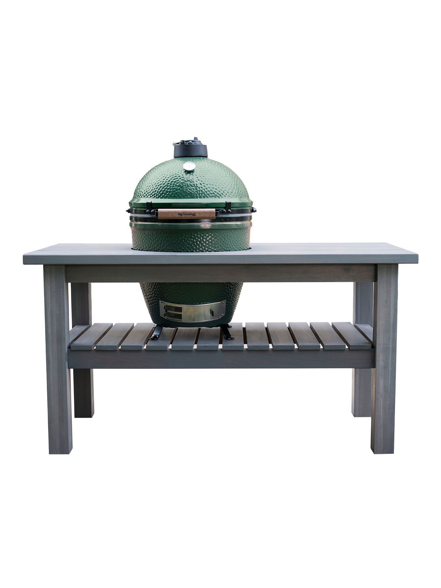 Image of Big Green Egg Large barbecue in slate grey table
