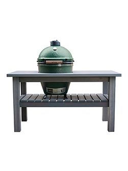 Large barbecue in slate grey table