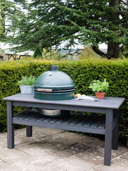 Big Green Egg X large barbecue in slate grey table