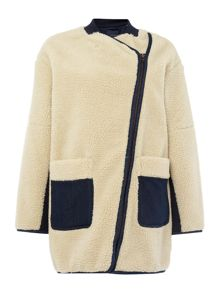 Maison Scotch OW TEDDY COCOON SHAPED JACKET
