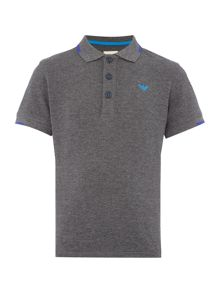 Armani Junior Boys Short Sleeve Pique Polo