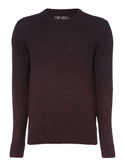 Fader Ombre Crew Neck Knit