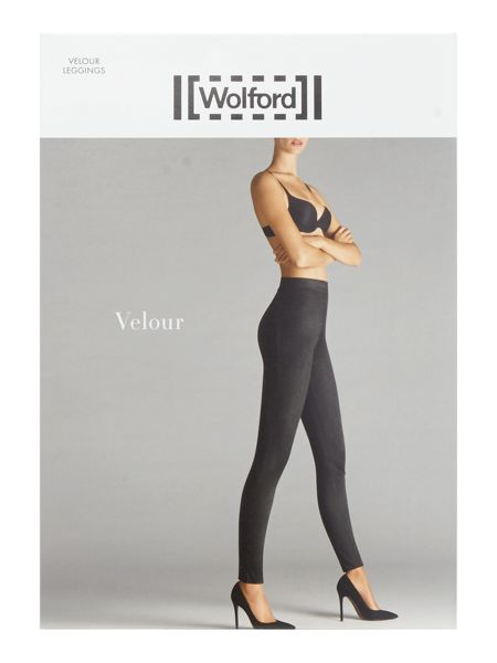 Wolford Velour footless tights