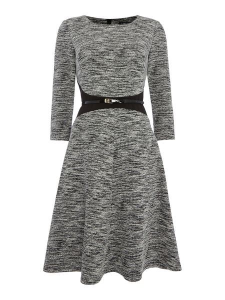 Episode 3/4 sleeve fit and flare dress