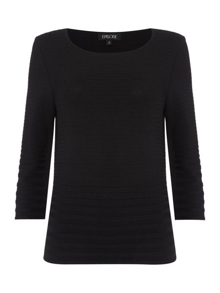 Episode 3/4 sleeve structured knitted top