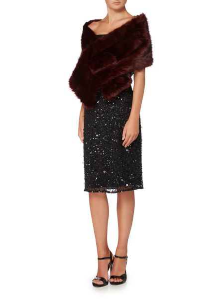 Ariella Fur shroud cover up