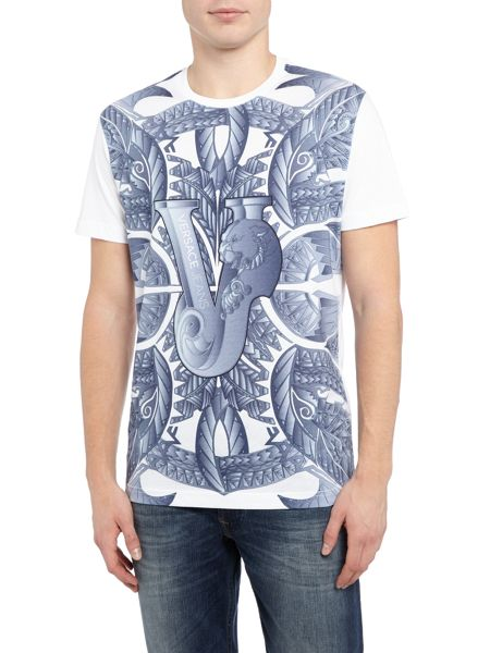 Versace Jeans All over tribal print crew neck t shirt