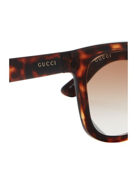 Gucci Tortoise rectangle GG 1133/S sunglasses