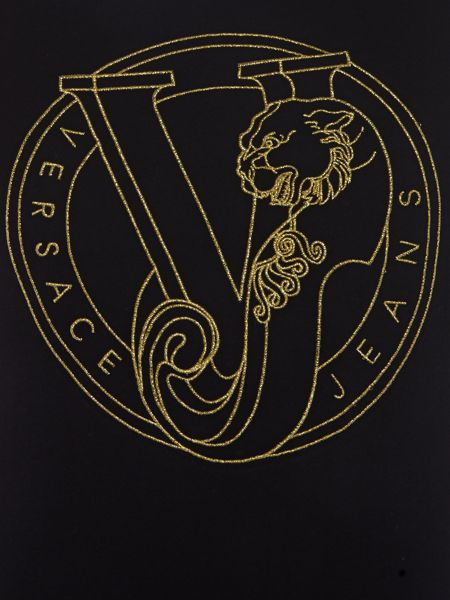Versace Jeans Large VJ logo embroidered t shirt