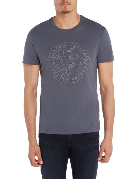 Versace Jeans Studded large VJ logo t shirt