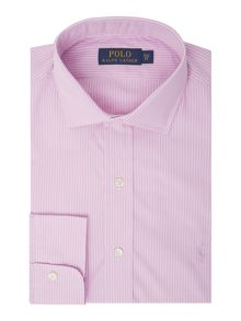 Polo Ralph Lauren Long sleeve poplin wide stripe shirt