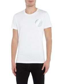 Versace Jeans Circle foil print chest logo t shirt