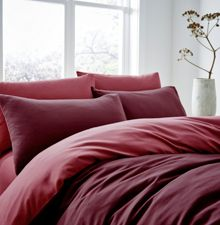 Linea Reversible flannel duvet cover set