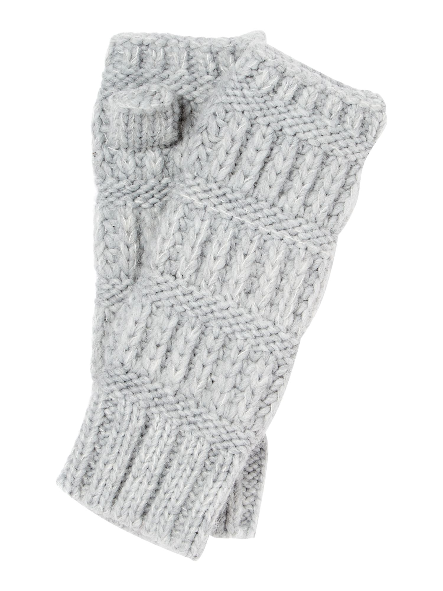 Gray & Willow Gray & Willow Mixed Knit Hand Warmers, Grey