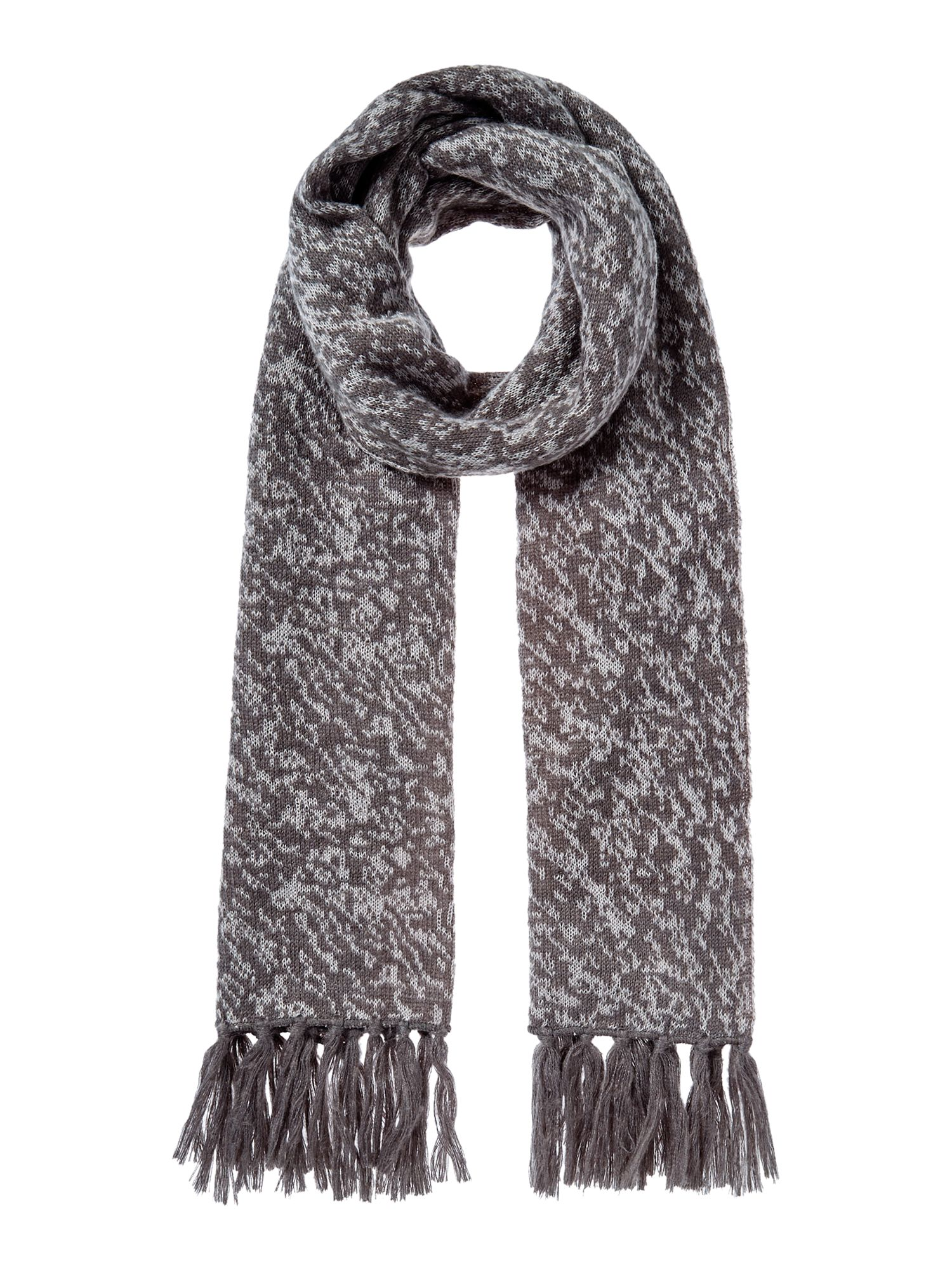 Gray & Willow Marble Knit Scarf Grey