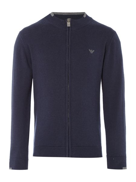 Armani Junior Boys Cotton and Wool-Blend Cardigan