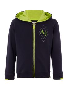 Armani Junior Boys Zip Up Hooded Sweat