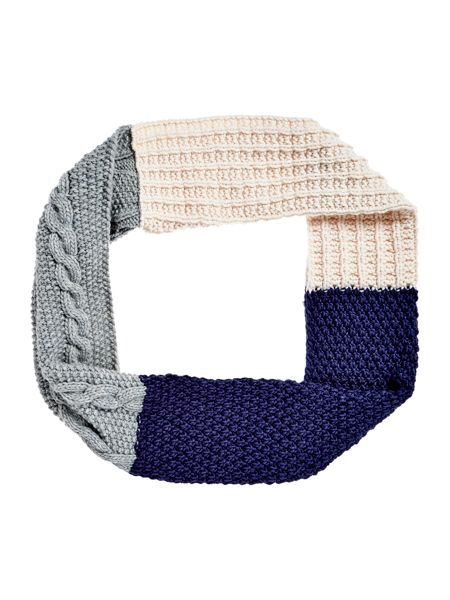 Dickins & Jones Block Stripe Knitted Snood