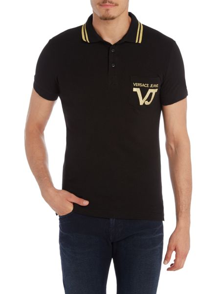 Versace Jeans Embroidered VJ pocket short sleeve polo shirt