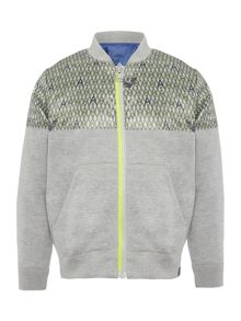 Armani Junior Boys Zip Up Reversible Sweat