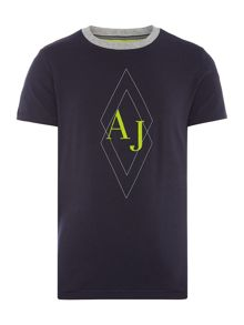 Armani Junior Boys Flock AJ Diamond T-Shirt