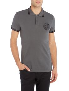 Versace Jeans Tipped pocket logo polo shirt