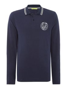 Versace Jeans Tipped chest logo polo shirt