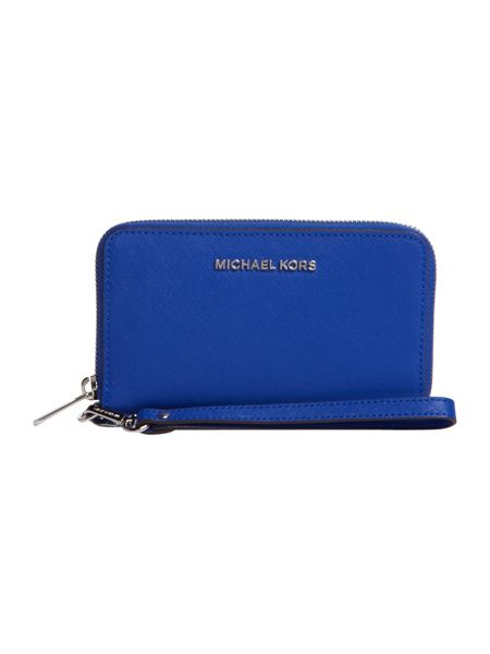 Michael Kors Jetset travel blue multi fuction zip around purse