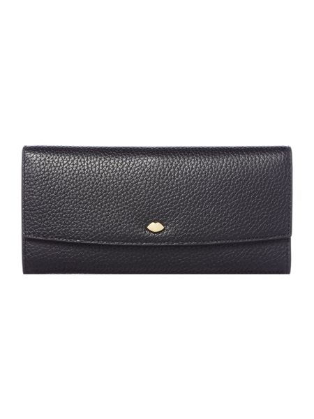Lulu Guinness Beth black small wallet