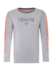 Armani Junior Boys Rubber Chest T-Shirt