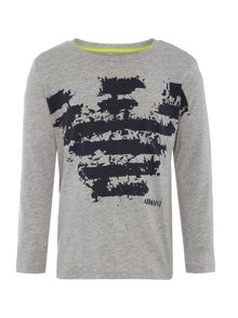 Armani Junior Boys Big Eagle Splatter T-shirt