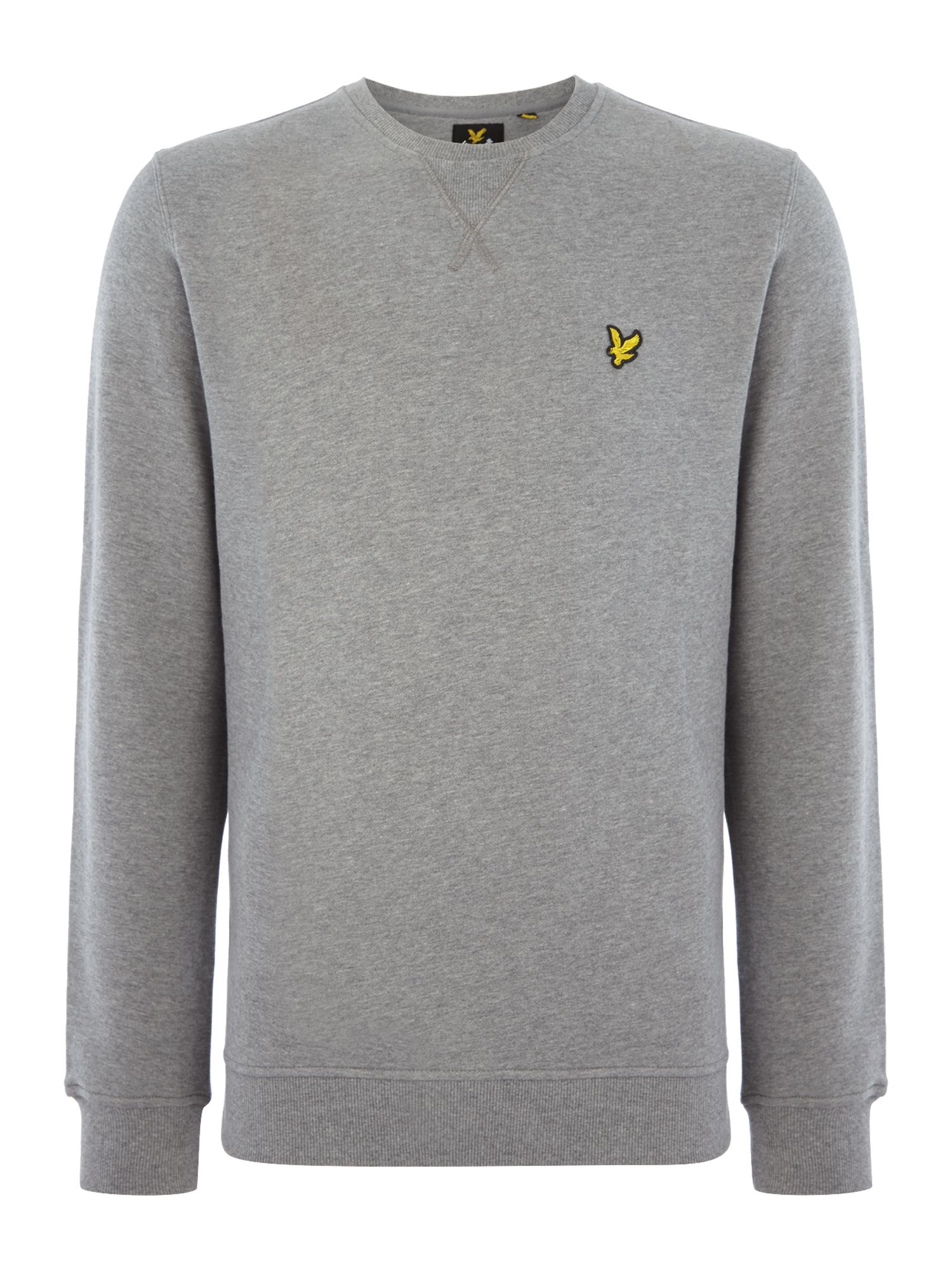 Men's Lyle and Scott Crew Neck Sweatshirt, Mid Grey Marl