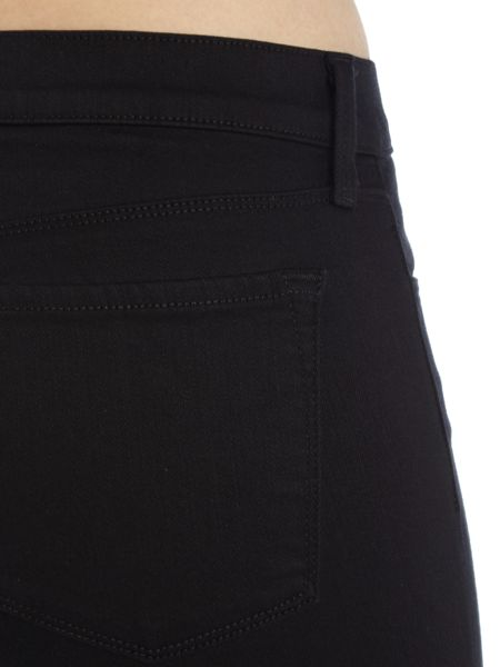 J Brand Mid rise super skinny in seriously black