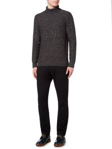 Linea Arienne Salt And Pepper Roll Neck Jumper