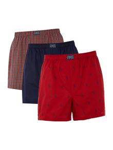 Polo Ralph Lauren Three Pack Check/Plain/Logo Boxer