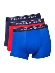Polo Ralph Lauren Three Pack Stretch Contrast Waistband Trunk
