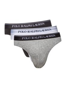 Polo Ralph Lauren Three Pack Stretch Contrast Waistband Brief