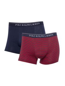 Polo Ralph Lauren Two Pack Stretch Plain and Stipe Classic Trunk