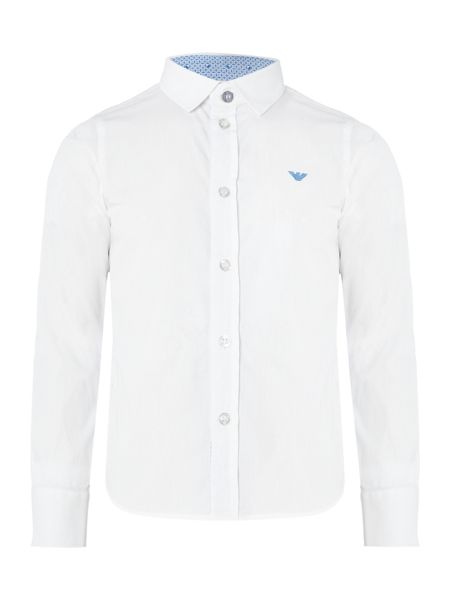 Armani Junior Boys Long-Sleeve Cotton Shirt