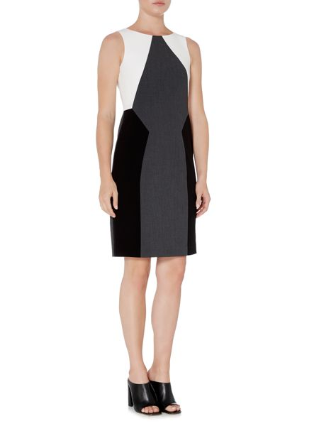 Episode Sleeveless shift dress with colour block panels