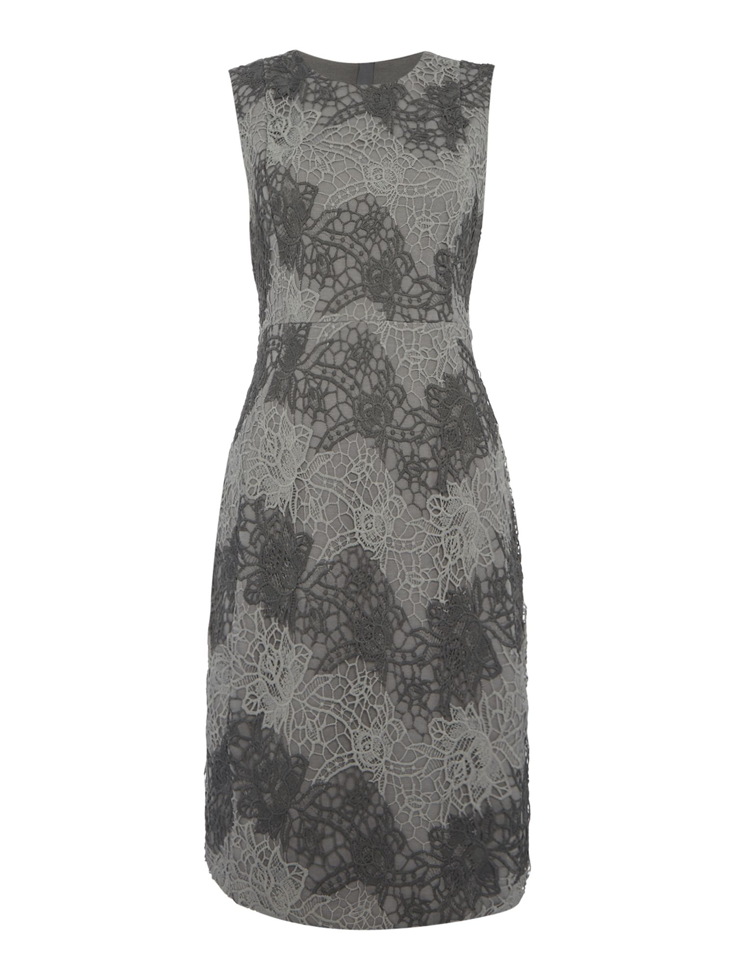 Episode Episode Textured lace shift dress, Grey