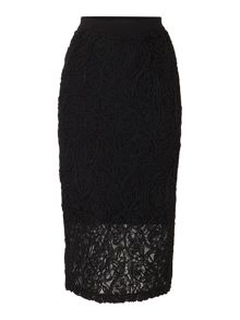 Lost Ink Lace Rope Detail Skirt