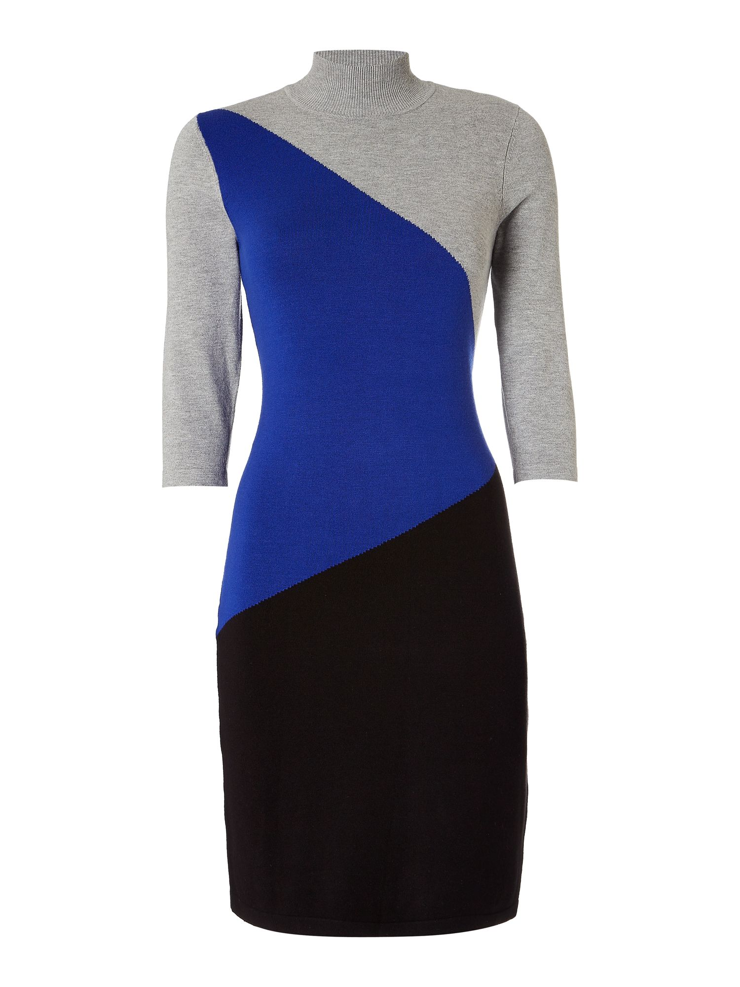 Episode Episode Colourblock Knitted Dress, Grey