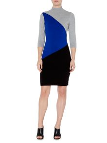 Episode Colourblock knitted dress