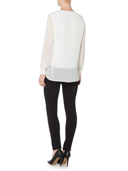 Episode Long sleeve chiffon dipped hem