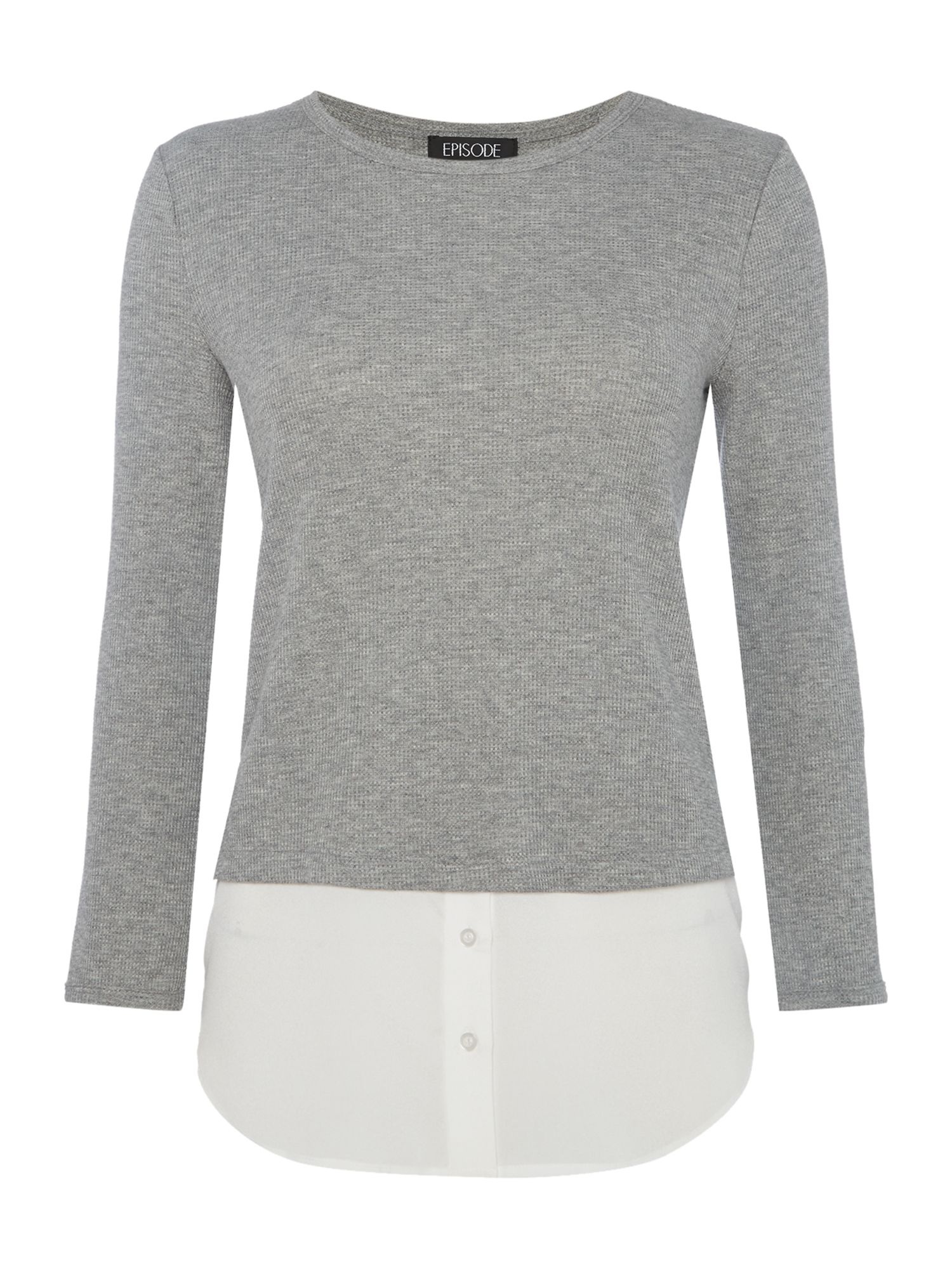 Episode Episode Long sleeve double layer jumper, Heather