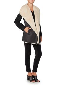 Episode Faux shearling pu coat