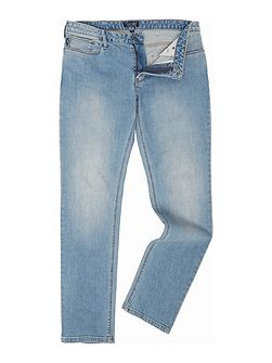 J06 slim fit light wash jeans