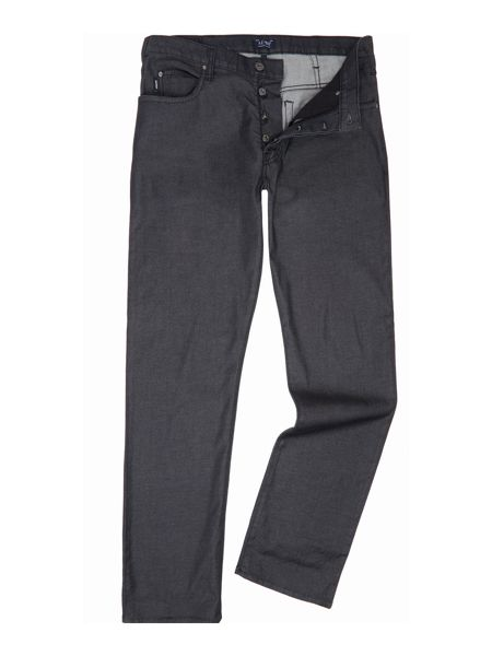 Armani Jeans J21 regular fit rinse black jeans