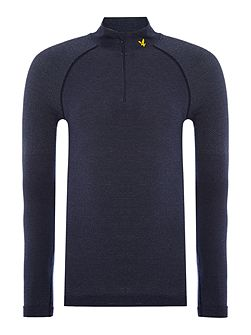 Sports Long sleeve 1/4 zip base layer top
